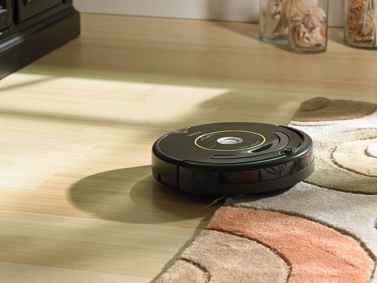 """A <a href=""""http://amzn.to/1TONhis"""" target=""""_blank"""">Roomba</a> that adjusts to all different floor types."""