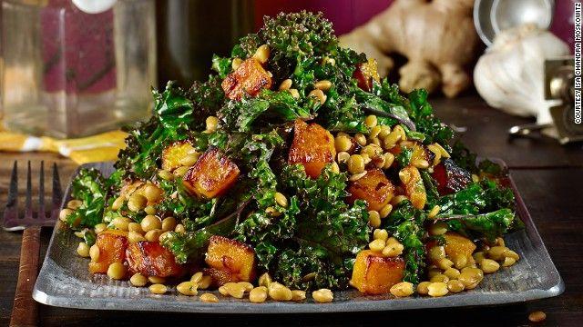 squash salad lentil salad vegan thanksgiving thanksgiving table food ...