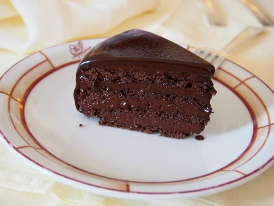 The famous chocolate cake at Harry's Bar