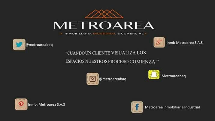 #REDESSOCIALES #Metroarea #inmobiliaria #industrial #comercial #renta #venta #proyectos #bodegas #localesindustriales #locales #localescomerciales #oficinas #lotes #colombia #barranquilla #bogota #cartagena #santamarta #panama