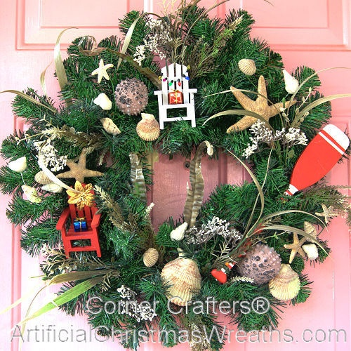 Christmas at the Beach Wreath: