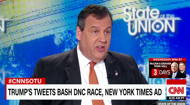 cool Chris Christie Defends Donald Trump's Brazen Attacks On The Media