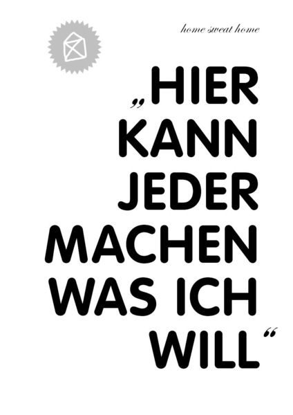 Typoprint / WAS ICH WILL // print by hipphipphurrra via dawanda.com