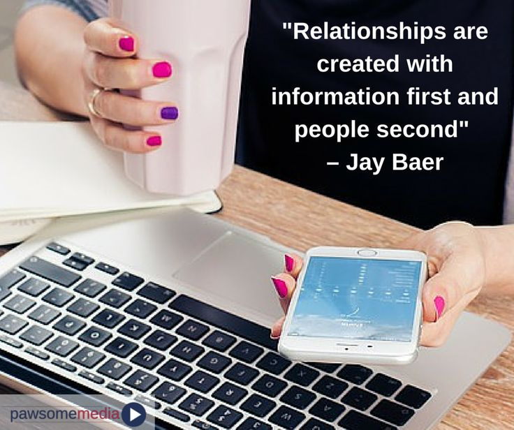 Make sure you have all the information for your potential customers and your relationship will follow.