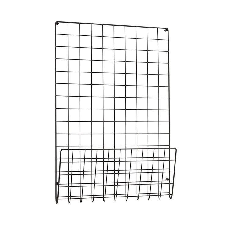 Mesh Noticeboard, Black $90. - RoyalDesign.com