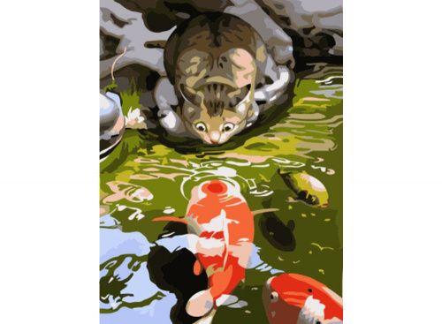 «Любопытный» Макото Мурамацу Картина по номерам, картина-раскраска по номерам, раскраска по номерам, paint by numbers, купить картину по номерам - Zvetnoe.ru - картины по номерам, алмазная мозаика