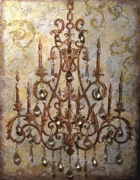 17 Best images about Art – Painting of Chandelier