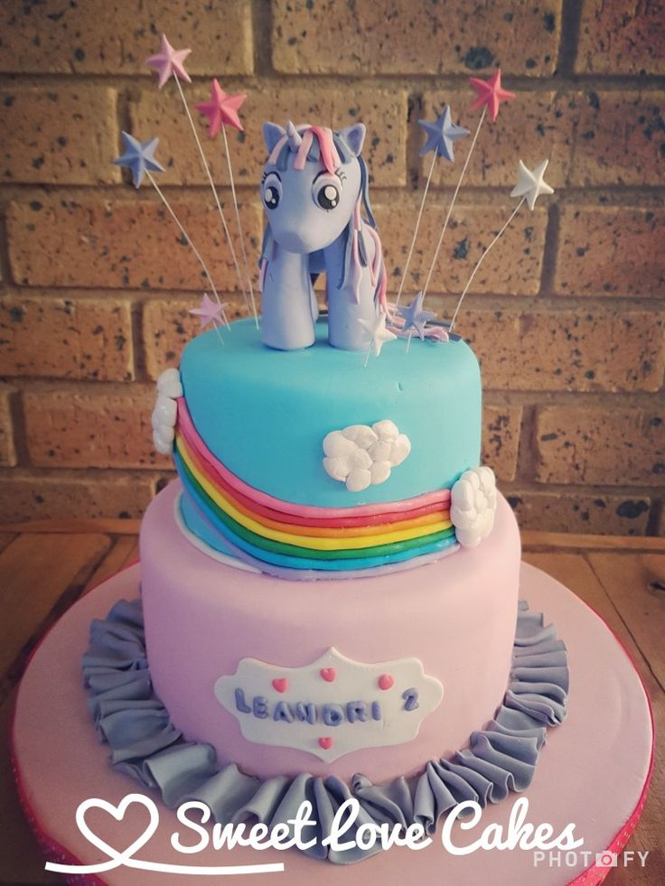 My Little Pony Cake #mylittlepony #rainbow #birthdaycake