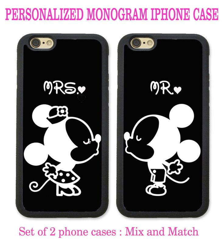 His & Hers PHONE CASES Couple Kissing 2 iPhone Cases - CUSTOM PERSONALIZED NAME #UnbrandedGeneric