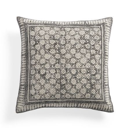 Onyx Floral Square Pillow