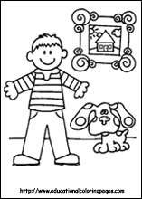coloring pages for kids blues clues coloring pages - Blues Clues Magenta Coloring Pages