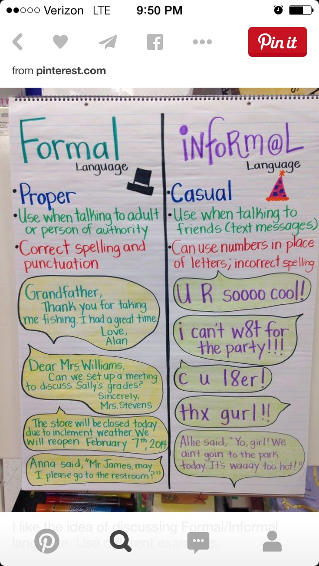 informal and formal language essay The general-purpose answer is to avoid informal language in a formal style of essay the real answer, of course, is you have to find out what is the attitude of your teacher or marker on this.