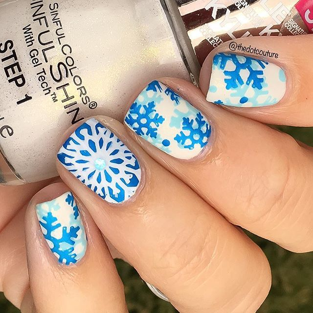 More blue and white snowflakes for my @cutegirlshairstyles Winter Wonderland nail art!!! Link in bio for more info! ❄️❄️❄️❄️❄️❄️❄️❄️❄️❄️❄️❄️❄️❄️❄️❄️❄️❄️❄️❄️❄️❄️❄️❄️❄️❄️❄️❄️❄️❄️
