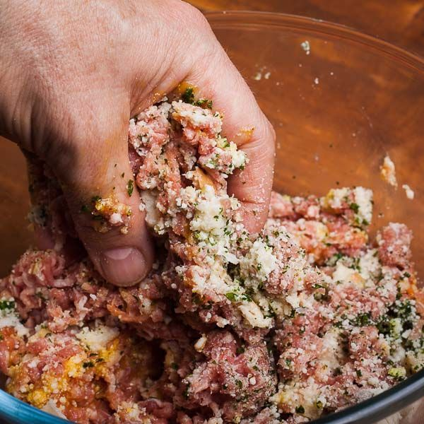 Use Your Bare Hands to Make Italian Meatballs