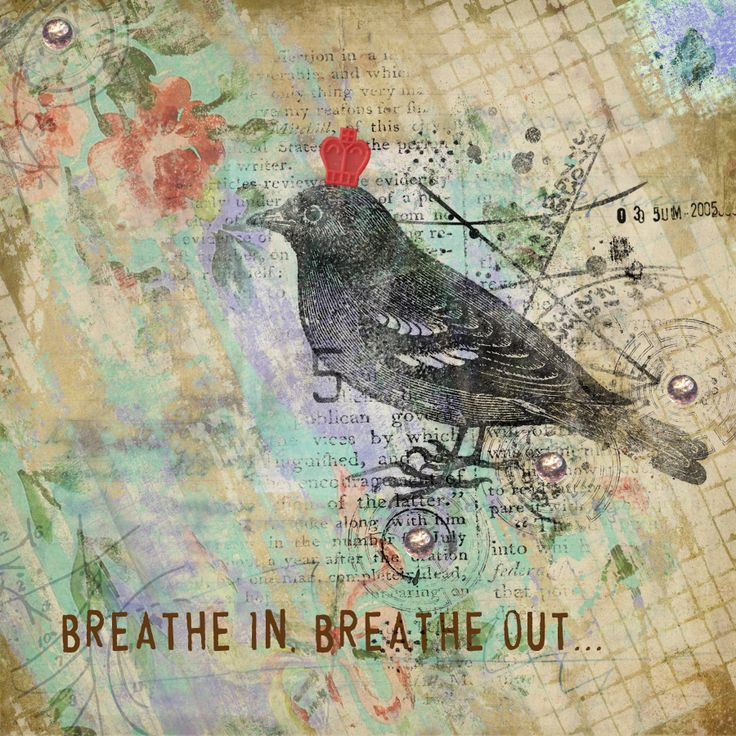 The Painted Nest Challenge #25 - 'Breathe' by Kyla deRuiter for Inky Fingers http://inkyfingersstore.blogspot.com.au/ http://www.scrapbookgraphics.com/photopost/g3864-the-painted-nest.html