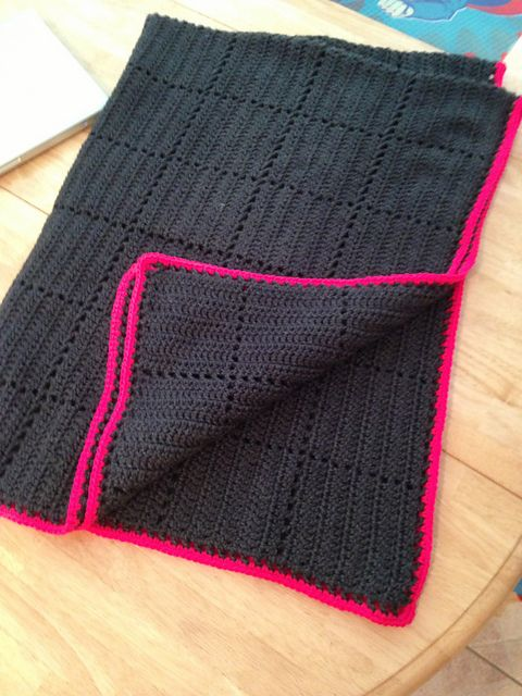 Crochet - Gray Squares- Has link to free pattern cute