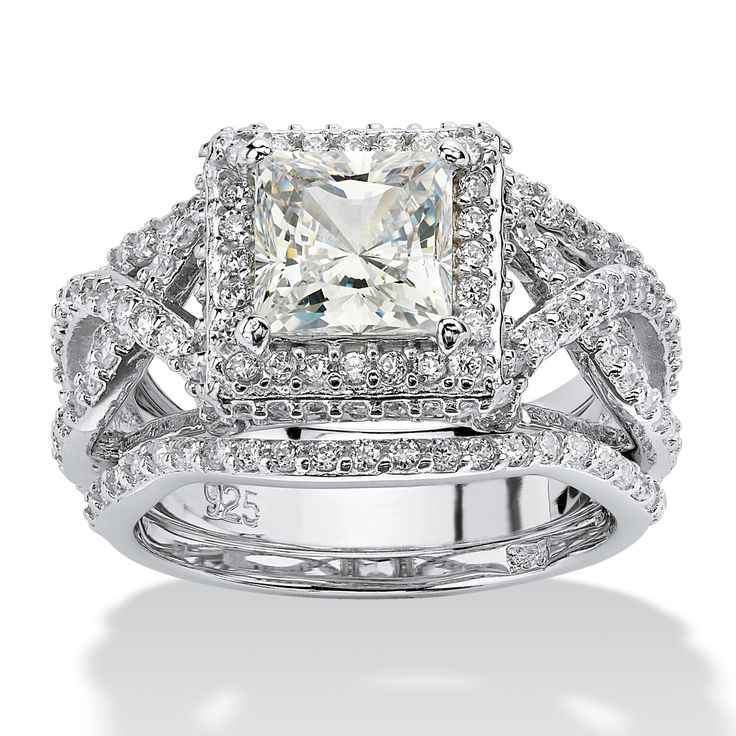 Double shanks bypass each other on either side of the princess-cut cubic zirconia creating a truly elegant effect. OverPrice - $119-fpUkT4Up
