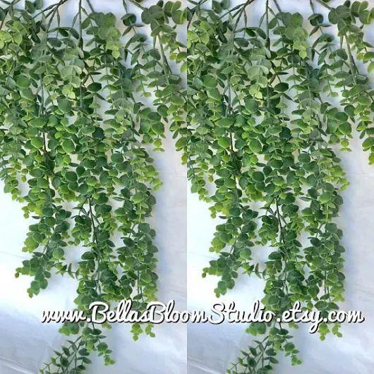 Eucalyptus bouquet faux eucalyptus spray Silver Dollar