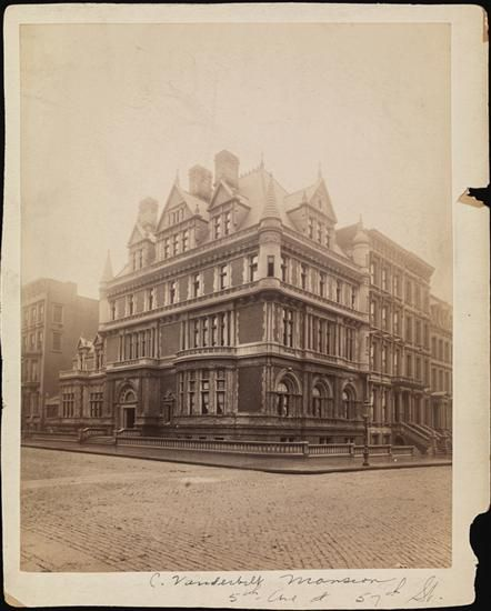 Cornelius Vanderbilt's mansion. 1900. This was on Grand Army Plaza across from the Plaza Hotel.