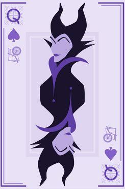 Disney villains playing card designs. Beautiful, minimal.