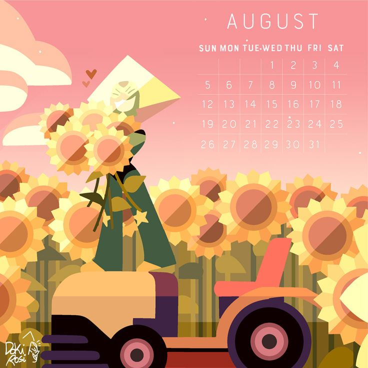 2018 Calendar the birthstone of August: Peridot! Aug facts: Another Birthstone of August is the lovely Sardonyx! But since I draw her a lot I decided to make Peri this time! Aug 4 it's Bimusth's...