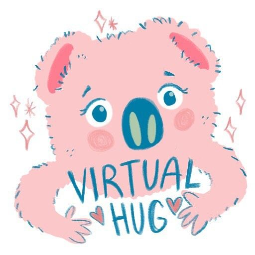 Playing About Making Stickers For Iphone Whatsapp Messaging Check Out My Cosy Virtual Hug Whatsapp Stickermaking Stic Virtual Hug How To Make Stickers Hug