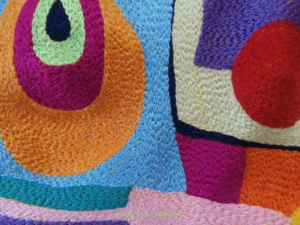Abstract ©2014 - detail.  Free machine embroidery using rayon and polyester threads