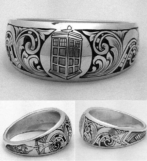 a three times as geeky ring the tardis the enterprise and the space shuttle find this pin and more on doctor who wedding - Doctor Who Wedding Ring