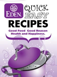 Free Eden Foods Recipe Book *Download and Mail