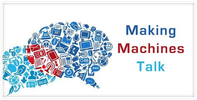 Making machines talk #connectedtech