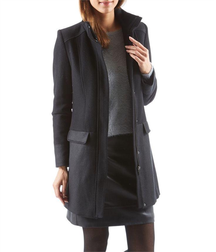1000 ideas about manteau femme noir on pinterest. Black Bedroom Furniture Sets. Home Design Ideas