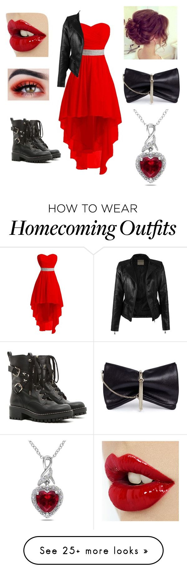 """Queen of Hearts"" by lovelyworlditis on Polyvore featuring RED Valentino, Jimmy Choo and Miadora"