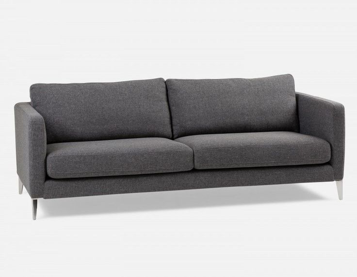 CARINE - 3-seater sofa - Dark Grey