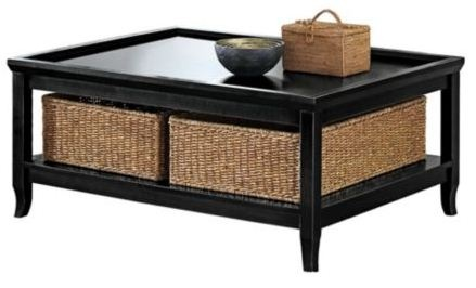 Coffee table with storage baskets woodworking projects plans Coffee table baskets