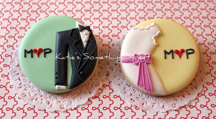 Edible Custom Wedding Favor Cookies via #Etsy from Katie's Something Sweet - amazing designs!