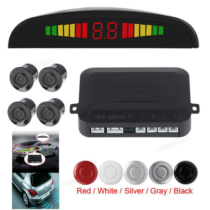 Car Auto Digital LED Display Car Parking Sensor System with 4 Sensors Reverse Backup Car Parking Radar Monitor Detector System ** Click the VISIT button to view the details