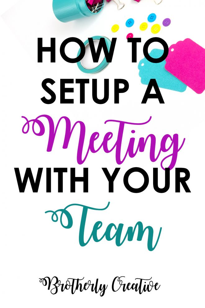 setup a meeting with your blogging team