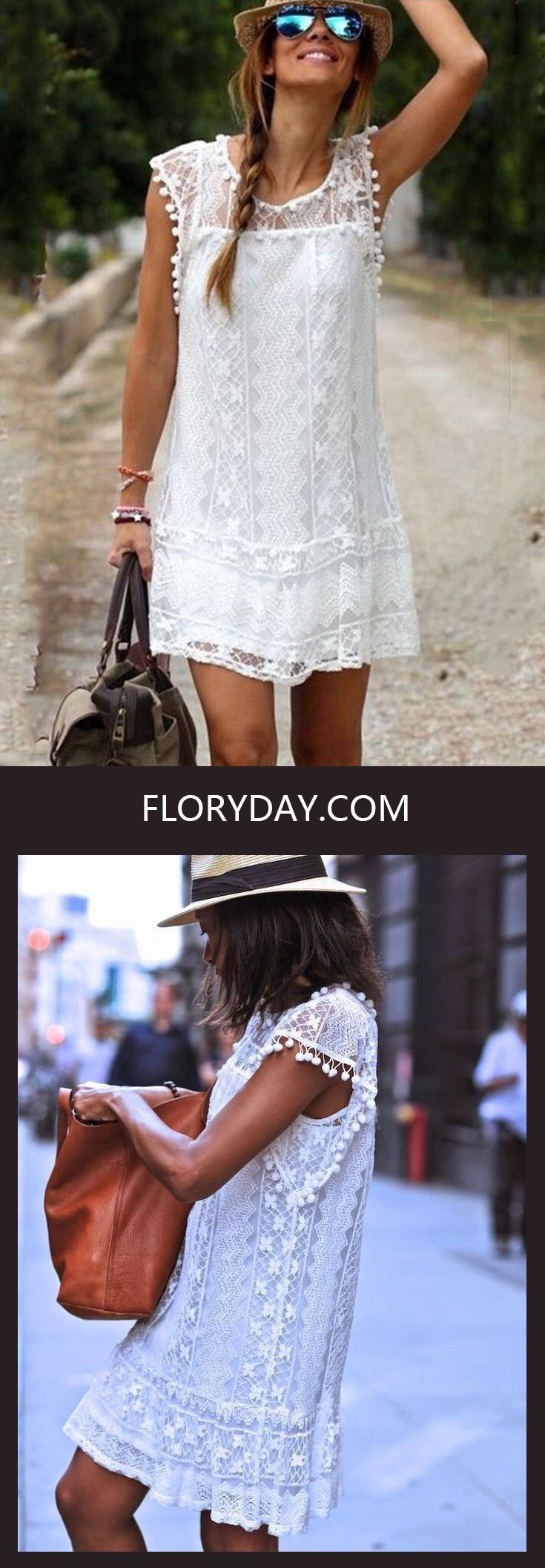 This Lace and Vintage dress is Coachella feels. Perfect for any outdoor events! Pair it up with your leather bag and favorite hat!
