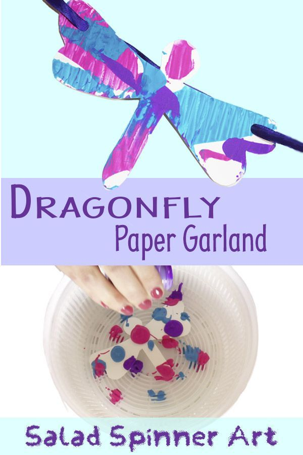 Dragonfly Paper Garland Animal Crafts For Kids Summer Crafts