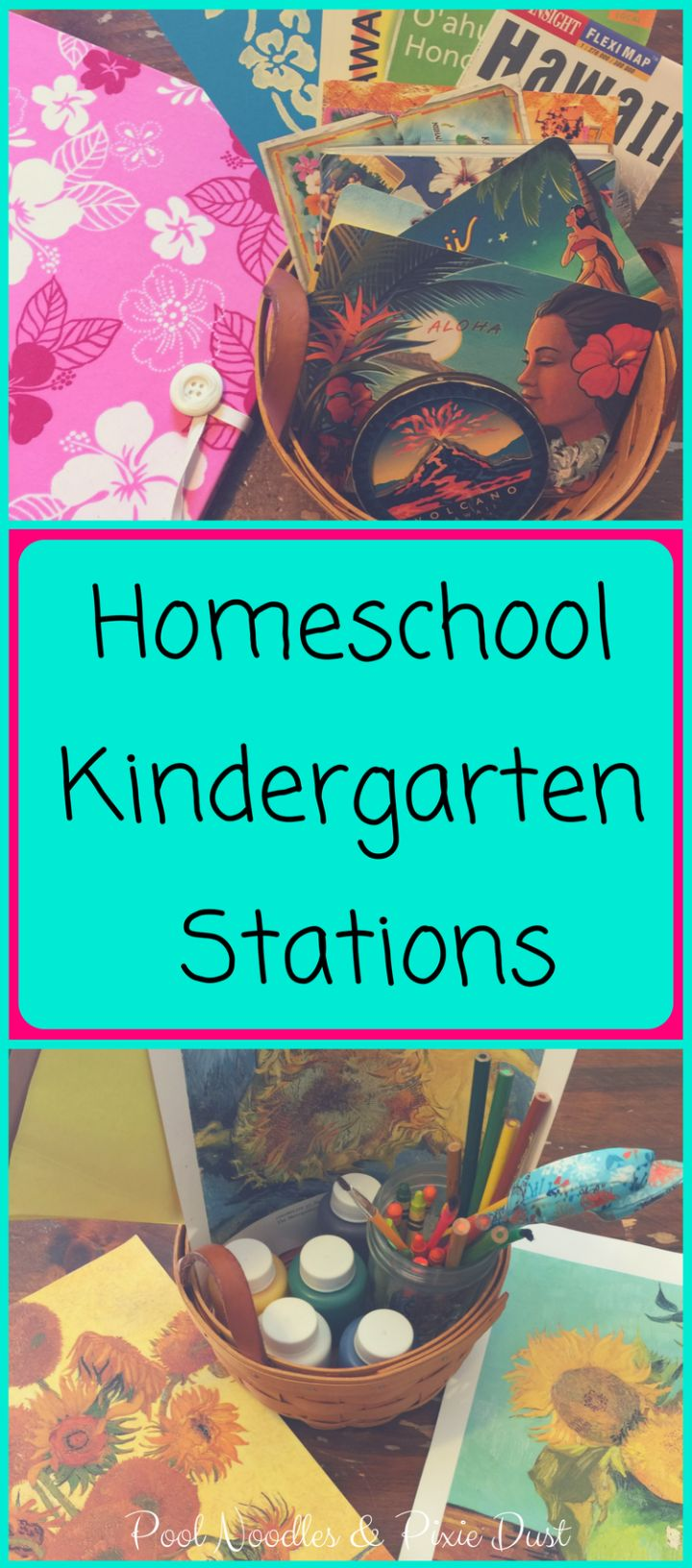 Homeschool Kindergarten Stations. Help for homeschooling multiple ages with purposeful learning for little learners.