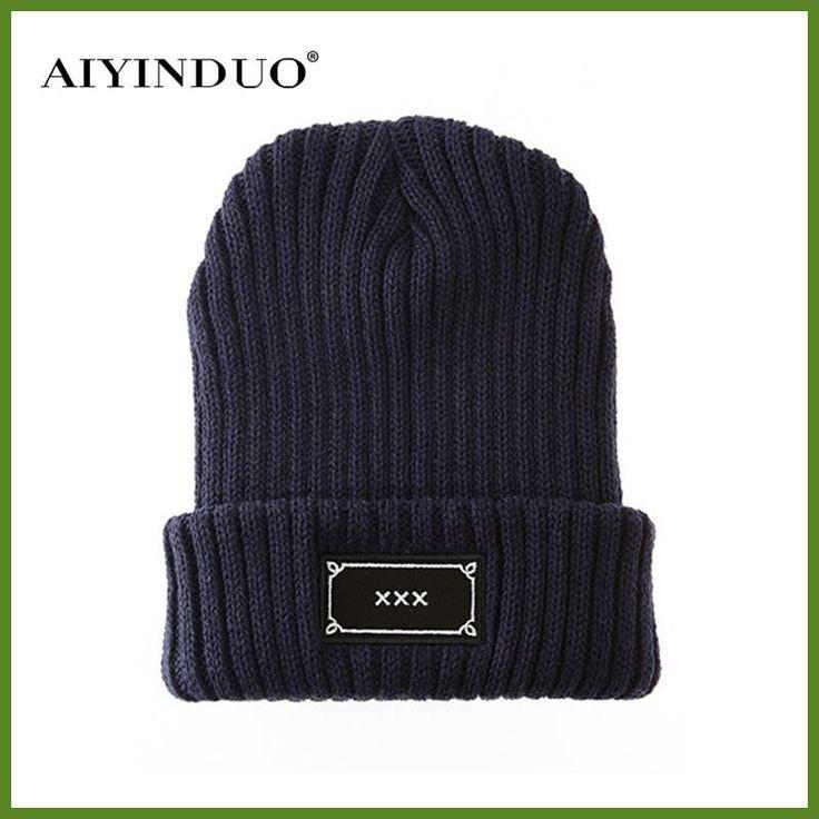 2016 Women Men Beanie Winter Keep Warm Cap XXX Letters Wool Hat Cool Unisex Knitted Cap Black Casual Outdoor Hat Beanies