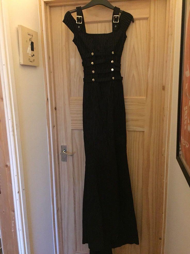 "LIP SERVICE Gangsta Pranksta ""Ain't Sophia Lookin' Pretty"" long dress #53-130 - black/blue size L-XL"