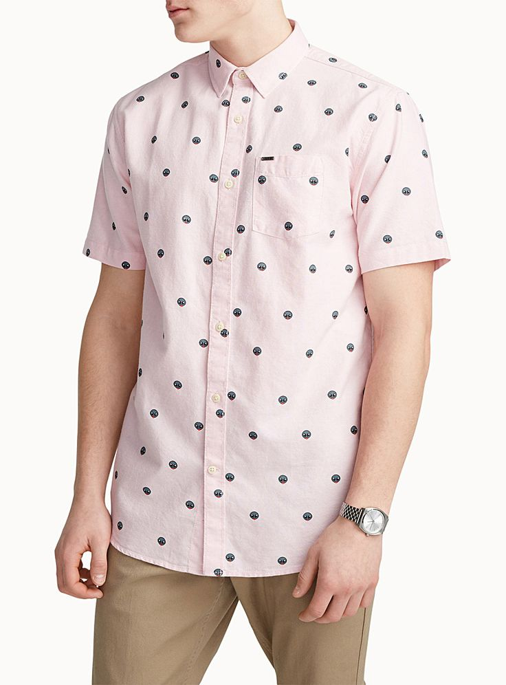 Exclusively from Djab     Show off your favourite emojis with this patterned shirt   100% organic cotton    The model is wearing size medium