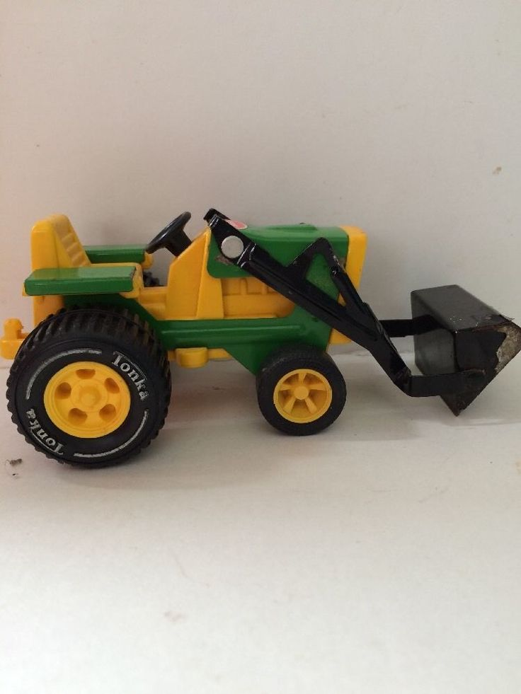 Tonka Yard  Tractor Diecast & Plastic  #811002 Bucket Yellow Green toy boy  #Tonka