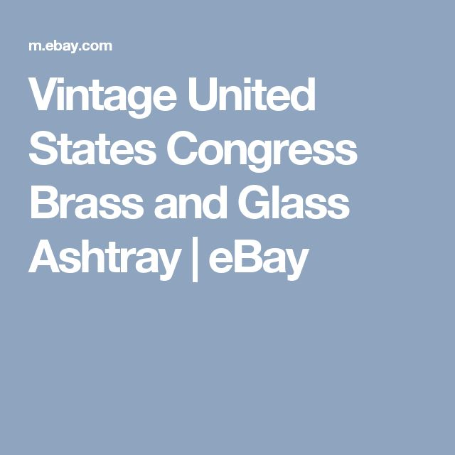 Vintage United States Congress Brass and Glass Ashtray  | eBay