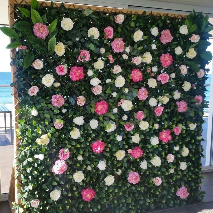 Flower Wall we did at Elourea Surf Club in Cronulla