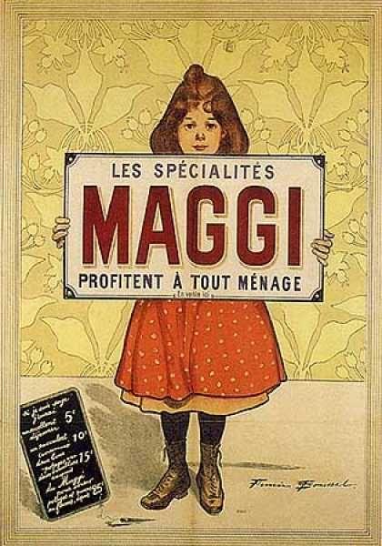 maggi by firmin bouisset 1900 publicit d 39 antan pinterest affiche et vintage. Black Bedroom Furniture Sets. Home Design Ideas