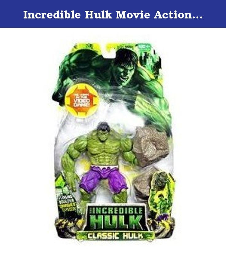 Incredible Hulk Movie Action Figure Classic Hulk. All the Hulk wants is to be left alone. Wandering through the desert, pursued constantly by the forces of General Thunderbolt Ross, he hides when he can. Unfortunately, the Armys trackers are just too good they always find and corner him. When that happens, all the firepower the army can bring to bear means nothing against the power of the Hulk!Get ready for a smashing good time with this articulated action figure, based on the character…
