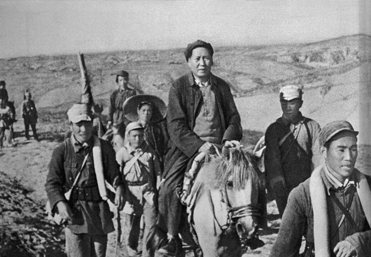 Chinese Civil War - Mao and his guerrilla fighters during ...