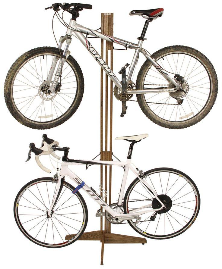 High, angled, or drop ceilings? This OakRak bike storage